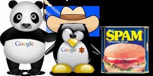 Panda, pingouin, et Spam