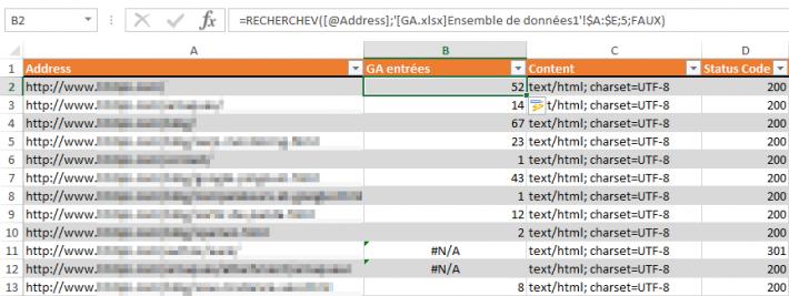 Association des données après recherchev